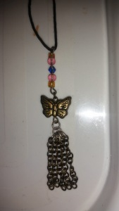 One of my early attempts at making my own jewellery